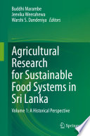 Agricultural Research for Sustainable Food Systems in Sri Lanka Book