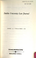 Dublin University Law Journal
