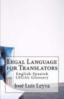Legal Language for Translators