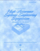 Proceedings  Fifth IEEE International Symposium on High Assurance Systems Engineering  HASE 2000