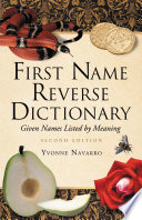 First Name Reverse Dictionary