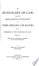 A Dictionary of Law Book PDF