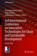 3rd International Conference on Innovative Technologies for Clean and Sustainable Development