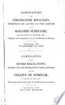 Compilation of the divers regulations, ...