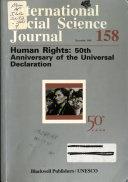 International Social Science Journal Book
