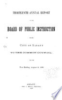 Proceedings of the Board of Education of the City of Albany Book PDF