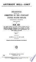 Antiriot Bill, 1967