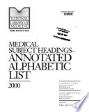 Medical Subject Headings Book