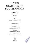 Juta's Statutes of South Africa