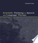 Scientific Thinking in Speech and Language Therapy Book