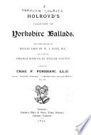 Holroyd's Collection of Yorkshire Ballads