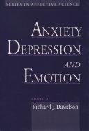Anxiety, Depression, and Emotion Pdf/ePub eBook