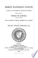 Bishop Hatfield s Survey