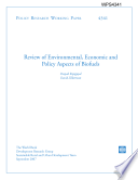 Review Of Environmental Economic And Policy Aspects Of Biofuels Book PDF