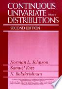 Continuous Univariate Distributions Volume 2