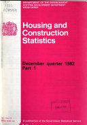 Housing and Construction Statistics