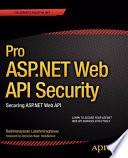 Pro ASP.NET Web API Security  : Securing ASP.NET Web API