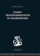 Comic Transformations in Shakespeare Pdf/ePub eBook