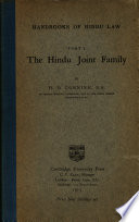 handbooks of hindu law part I the hindu joint family