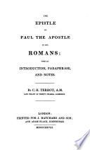 Epistle of Paul the Apostle to the Romans