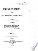Frankenstein, Or, The Modern Prometheus