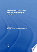 Information Technology And Traditional Legal Concepts Book PDF