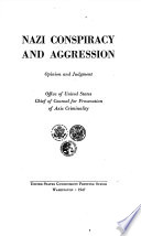 Nazi Conspiracy and Aggression  Opinion and Judgment Book PDF