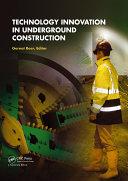 Technology Innovation in Underground Construction [Pdf/ePub] eBook