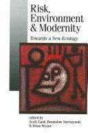 Risk, Environment and Modernity Pdf/ePub eBook