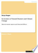 Economics of Natural Disasters and Climate Change