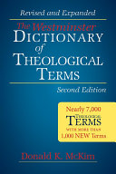 The Westminster Dictionary of Theological Terms  Second Edition