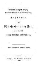 Geschichte Der Philosophie Alter Zeit