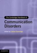 The Cambridge Handbook of Communication Disorders