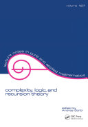 Complexity, Logic, and Recursion Theory