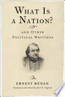 What Is a Nation  and Other Political Writings