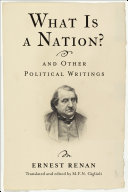 Pdf What Is a Nation? and Other Political Writings Telecharger