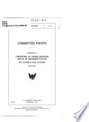 Committee Prints Published By Committee On Armed Services House Of Representatives Congress