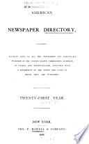 American Newspaper Directory