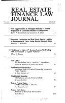 Real Estate Finance Law Journal