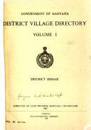 District Village Directory