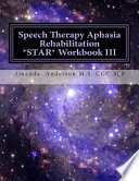 Speech Therapy Aphasia Rehabilitation Star