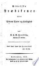 Bibelske prædikener efter tidens tarv og leilighed, Sermons 1816