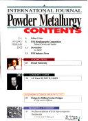 International Journal of Powder Metallurgy
