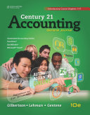 Century 21 Accounting: General Journal, Introductory Course, Chapters 1-17