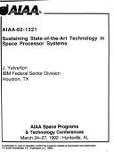 AIAA Space Programs and Technologies Conference  March 24 27  1992  Huntsville  AL   92 1321   92 1370 Book
