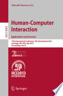 Human Computer Interaction  Applications and Services