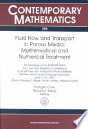 Fluid Flow and Transport in Porous Media  Mathematical and Numerical Treatment Book