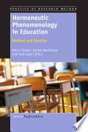 Hermeneutic Phenomenology In Education