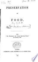 Preservation Of Food
