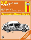 VW Type 3, 1500 and 1600, 1963-1973